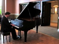 Glenn performs a selection from his own arrangement of a Johann Strauss Waltz Medley, at the AmateurPianists San Diego recital in May 2012.