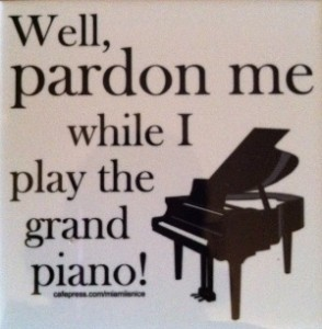 Adult piano student's New Year's Resolutions for practicing piano.