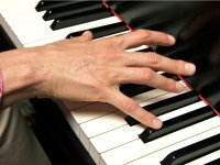 Taking trial piano lessons with a new piano teacher.