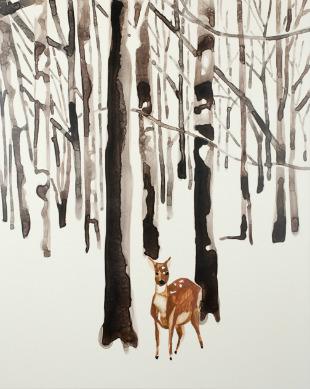 Deer_in_Snow_Forest_Annika_Connor